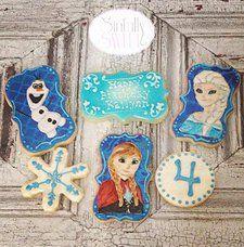 #frozen #custom #character #cookies #cypress #texas #anna #elsa #olaf