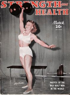 "Five-foot-1, 115-pound blonde Abbye ""Pudgy"" Evile Stockton was an American professional strongwoman who became renowned through her involvement with Santa Monica's infamous Muscle Beach in the 1940s."