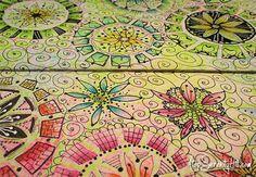 De-stressing: an art journal page