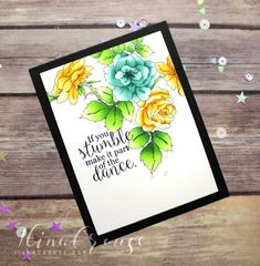 Hi stampers! I have a clean and simple card for you today using Impression Obsession goodies, but before I go onto that . Impression Obsession Cards, Concord And 9th, Altenew, Happy Thursday, Vintage Flowers, I Card, Card Making, Creativity, Simple