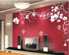 Image result for wall art stickers flowers