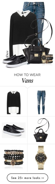 """""""Untitled #5699"""" by doradabrowska on Polyvore featuring Frame Denim, Alice + Olivia, 3.1 Phillip Lim, Samantha Wills, Marc by Marc Jacobs and Vans"""