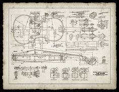 Print of a 19th Century Violin Maker's Plans