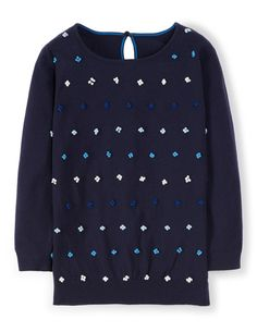 French Knot Sweater in Navy #Boden