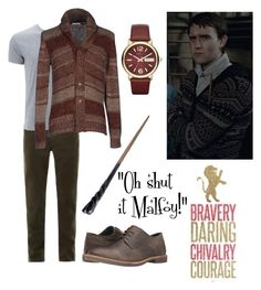 """Neville Longbottom"" by fashionablehottie25 on Polyvore featuring J Brand, B.D. Baggies, Ben Sherman, Emma Watson, Marc by Marc Jacobs, men's fashion and menswear"