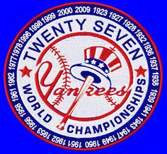 Image detail for -Patches :: Custom Patches :: New York Yankees 27 World Championships 5 ...