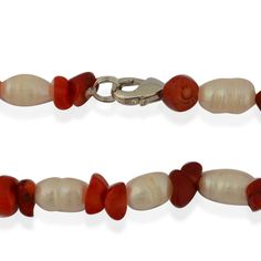 Coral, Freshwater Pearl Set of 2 Bracelets (7.5 in) and Necklaces (22 in) in Stainless Steel TGW 0.004 cts.