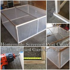 This homemade screened pest cover for raised garden beds will show you how this amazing cover is the perfect companion for your backyard raised bed gardeni
