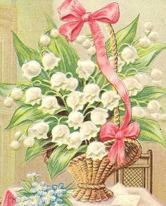Basket of lily of the valley