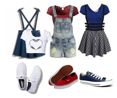Untitled #18 by lordlollygag on Polyvore featuring polyvore, fashion, style, VILA, Vans, Keds and Converse