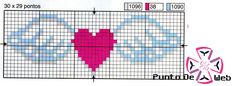 Cross Stitch Pattern *<3*- - Corazón Con Alas