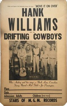 Original-1949-Hank-Williams-Rare-Boxing-Style-Concert-Poster
