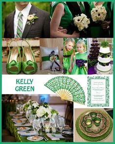 Kelly green inspiration color board