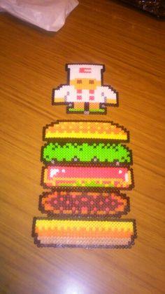 Made burger time  perler style