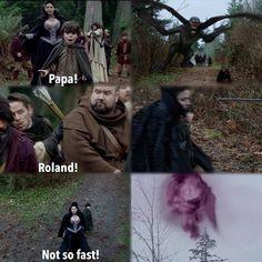 Regina saving Roland (a cute scene).: