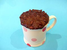 Chocolate coffee mug cakes (microwaved)