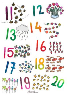 tellen tot 20 Preschool Prep, A4 Poster, School Posters, Kids Learning, Crafts For Kids, 21st, Lily, Spelling, Stage