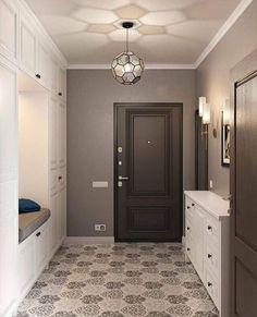 New Ideas For Bathroom Design Brown Floors White Interior Design, Home Interior, Interior Design Living Room, Bathroom Shelf Decor, Entryway Decor, Small Bathroom Inspiration, Hallway Designs, Yellow Bathrooms, Bathroom Design Luxury