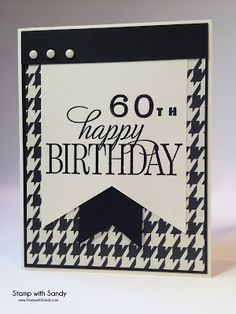 Stamp with Sandy: Happy 60th Birthday