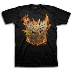 Transformers-hasbro Trans Fire Logo Xl, Black