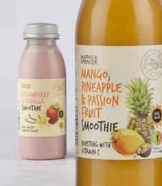 Georgina Luck's fruit illustrations for the packaging of M&S Smoothies: www.georginaluck.com