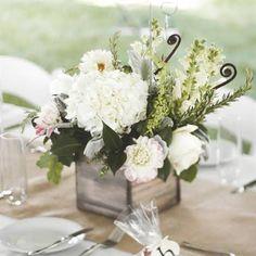 Rustic White Floral Centerpieces