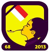 Indonesian 68th Indepedence Day Badge