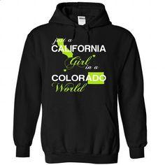 (CAJustXanhChuoi001) Just A California Girl In A Colora - #sweatshirt for women #sweatshirt cardigan. PURCHASE NOW => https://www.sunfrog.com/Valentines/-28CAJustXanhChuoi001-29-Just-A-California-Girl-In-A-Colorado-World-Black-Hoodie.html?68278