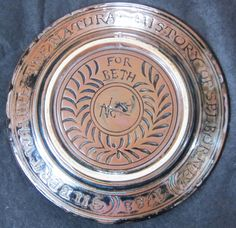 Reverse of the Selborne plate. Stoneware, Decorative Plates, Wax, Dishes, How To Make, Home Decor, Decoration Home, Room Decor, Tablewares