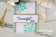 Inspired by Stamping, Joanna Munster, Cherry Blossoms stamp set, Big Wonderful Stamp Set, thinking of you card