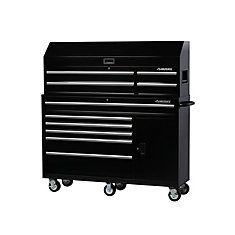 Husky Tool Chest Rolling Cabinet Combo 10 Drawer 1 Door Garage Black 61 X 18 In Set Of Drawers, Large Drawers, Tool Storage, Storage Spaces, Cabinet Boxes, Cabinet Storage, Storage Drawers, Cabinet Dimensions, Rubber Grommets