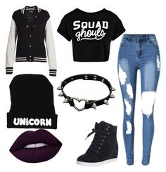 """""""Cute punk🖤"""" by prettylittlelizzy on Polyvore featuring Marc Jacobs and Boohoo"""
