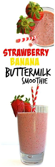 Your new favorite breakfast smoothie! Healthy and delicious strawberry banana buttermilk smoothie with chia seeds, coconut, and no added sugar! Chia Seed Smoothie, Juice Smoothie, Smoothie Drinks, Smoothie Recipes, Detox Drinks, Healthy Breakfast Smoothies, Yummy Smoothies, Healthy Drinks, Healthy Eating