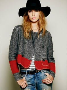 Colorblock Sweater Jacket by Free People