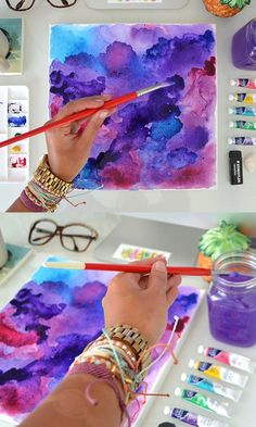 DIY Watercolor Art via the Pura Vida Bracelets Blog