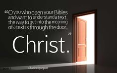 Open your bibles - Charles Spurgeon