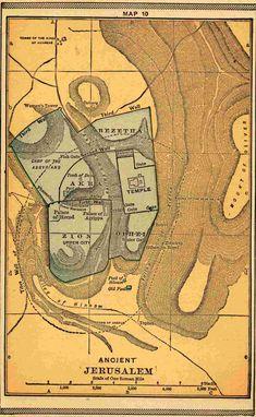 Ancient Jerusalem Map