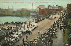 Ramona Float on West Bridge Street - August 23, 1910