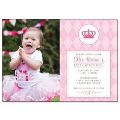 Princess Birthday Invitation -  Photo