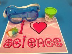 I love science place mats for the science party