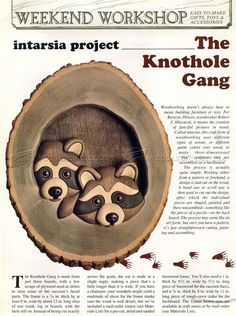 The Knothole Gang - Intarsia Projects - Intarsia