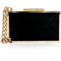 Lanvin Bi-colour cigarette case box clutch (13,420 CNY) found on Polyvore wristlets 腕包 20121205