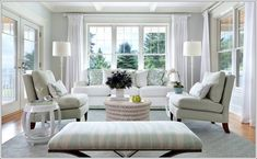 coastal inspired living room seating | How About Chalky Pastels in Your Living Room?