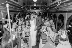 Nashville Destination Wedding at The Cordelle. Fine Art Wedding Photographer. Heather Durham Photography. Nashville Weddings. Wedding Inspiration. Wedding Photography. Luxury Weddings. Black and White Wedding Photography. Wedding Party on Trolley.