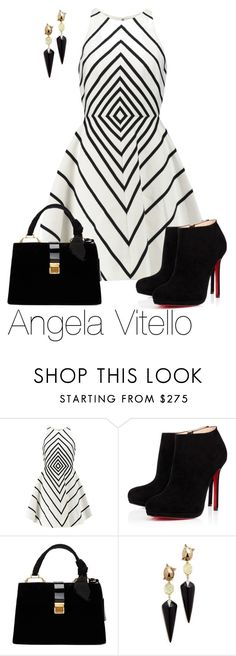 """""""Untitled #862"""" by angela-vitello on Polyvore featuring Halston Heritage, Christian Louboutin, Miu Miu and Alexis Bittar"""