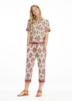 Maison Scotch Printet Bluse 136759 All-Over Printed Blouse
