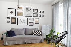 Mieszkanie na Woli   Apartment in Wola, Warsaw - Marta Czeczko - architektura wnętrz   interior design Gallery Wall, Interiors, Living Room, Home Decor, Decoration Home, Room Decor, Home Living Room, Drawing Room, Decor