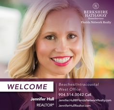 BERKSHIRE HATHAWAY HOMESERVICES FLORIDA NETWORK REALTY WELCOMES JENNIFER HULL