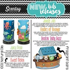 We have so many products for kids! Here are 3 BIG items. What kids wouldn't love to have one of these in their room!? Kids Product Line: https://lynnebiniker.scentsy.us #kidsdiffuser #naturaloils #juicypear #sweetmelon #junglejam #oodlesoforange #rockinrubyrazz #noahsark #onceuponatime #deepbuesea #light #homedecor #kidsroom #fragrance #scent