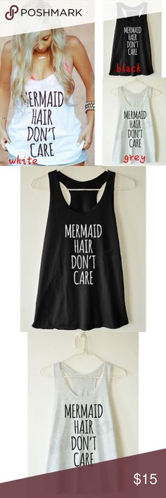 💥COMING SOON💥 Mermaid tank Item Type:Top Pattern Type:Character Sleeve Style:Regular Style:Fashion Material:Cotton blending Tops Tank Tops
